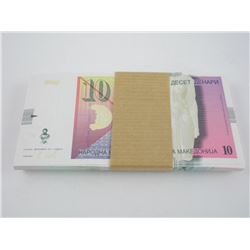 """Brick (100) """"Serbia"""" (1) Notes In Sequence."""