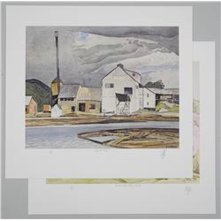 Lot (2) A.J. Casson (1898-1992) Litho's 'Lumber Mi