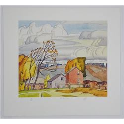 A.J. Casson (1898-1992) Litho 'Old Farm House' 11x