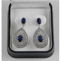 925 Silver Custom Earring with Bead Set Swarovski