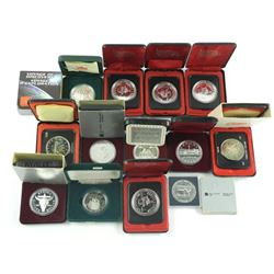 Lot (13) Cased Silver Dollars - Mixed.