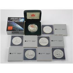 Lot (6) Canada Silver Dollars Cased.