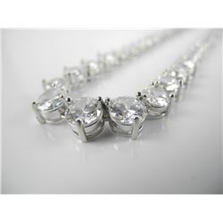 925 Silver, Graduating Tennis Necklace with 85ct S