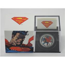 .9999 Fine Silver $20.00 Coin 'Man of Steel' 75th
