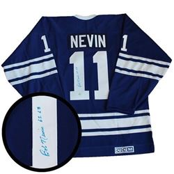 TML Bob Nevin Hand Signed Jersey. Certified.