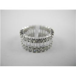 .925 Sterling Silver Eternity Style Band Ring