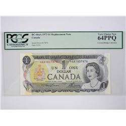 Bank of Canada 1973 *Replacement 1.00 UNC 62. PCGS