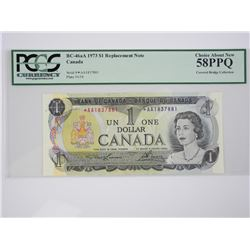 Bank of Canada 1973 * Replacement UNC 58, PCGS, C.