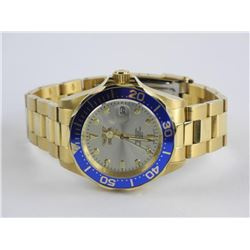 Invicta Watch - Goldtone/Blue Outer Dial with Date