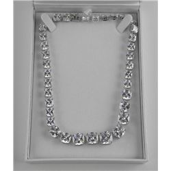 Ladies 925 Silver Custom Necklace - over 100ct Swa