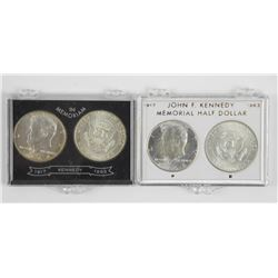 Lot (4) USA Kennedy Silver 50 Cent 1964 90% Silver
