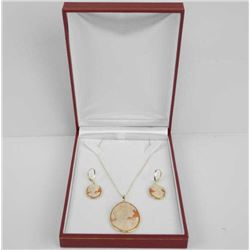 Ladies 14kt Gold Custom Jewellery Set Hand Carved