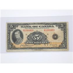 Bank of Canada 1935 $5.
