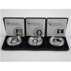 Lot (3) Hollywood Legends - 925 Sterling Silver Co