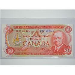 Bank of Canada 1975 - 50.00. RCMP Formation. UNC.