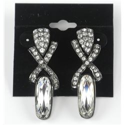 MM Custom Design Earring 64 Bezel Set Swarovski El