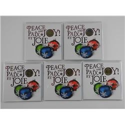 Lot (5) 2015 - UNC Peace and Joy Coin Folio with S