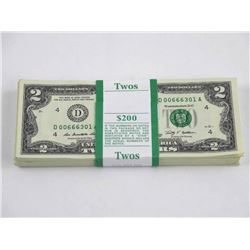 Original Treasury $2 Bundle - Sequential Serial Nu