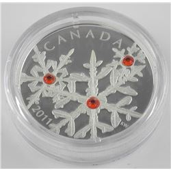.9999 Fine Silver $20.00 Coin 'Crystal Snowflake -