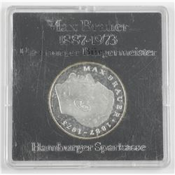 Max Brauer 1887-1973 Medal Silver
