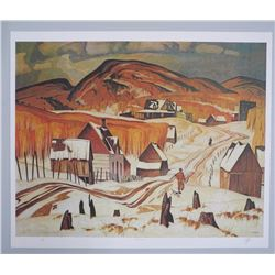 "A.J. Casson (1898-1992) ""Early Snow"" Lithograph. Hand Signed by The Artist. Appraisal and Certified"