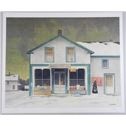 "A.J. Casson (1898-1992) ""Annabelle's General Store"" Lithograph. Hand Signed by The Artist. Appraisal"