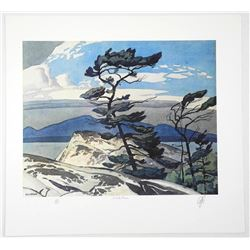 "Rare - A.J. Casson (1898-1992) ""White Pine"" Lithograph. Hand Signed by The Artist. Appraisal and Cer"