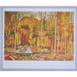 "A.J. Casson (1898-1992) ""Autumn Decoration"" Lithograph. Hand Signed by The Artist. Appraisal and Cer"