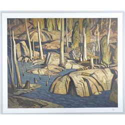 "A.J. Casson (1898-1992) ""Backwater"" Lithograph. Hand Signed by The Artist. Appraisal and Certified $"