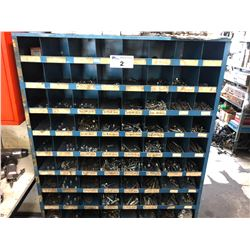 MULTI BIN BOLT RACK WITH CONTENTS