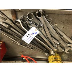 LOT OF SNAP ON AND OTHER WRENCHES AND TOOLS