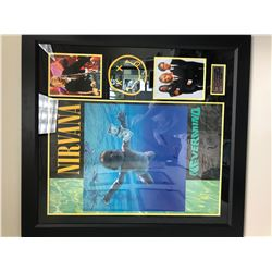 FRIDAY NIRVANA HUGE SIGNED FRAMED CONCERT POSTER