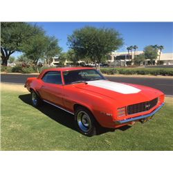 1969 CHEVROLET CAMARO RS 327 NUMBERS MATCHING