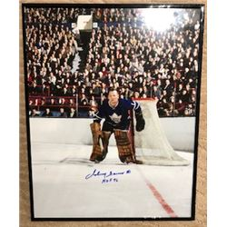 FRIDAY NIGHT! JOHNNY BOWER AUTOGRAPHED FRAMED TORONTO MAPLE LEAFS PHOTO 16x20