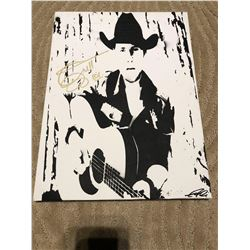 BRETT KISSEL AUTOGRAPHED HAND PAINTED CANVAS