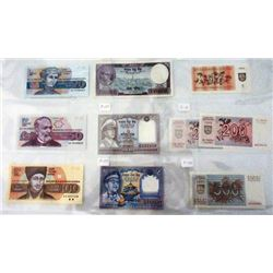 Assorted Mixed World Issuers. 1905-2000. Group of 60+ Issued Notes.