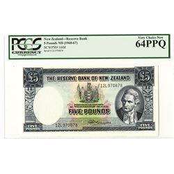 Reserve Bank of New Zealand, ND (1960-67) Issued Banknote.