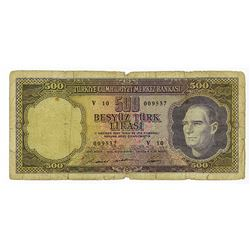 Central Bank of Turkey, L.1930 (ca.1962) issued Banknote.