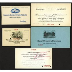 Various invitations and announcements.