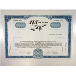 Jet Air Freight, 1968 Specimen Stock Certificate
