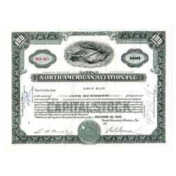 North American Aviation, Inc., 1935 Issued Stock Certificate