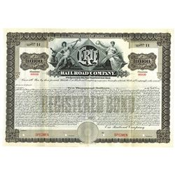 Erie Railroad Co., 1903 Specimen Registered Bond