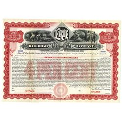 Erie Railroad Co., ca.1900-1910 Specimen Bond