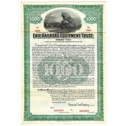 Erie Railroad Equipment Trust, 1922 Specimen Bond
