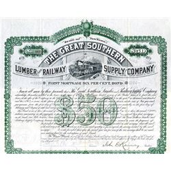 Great Southern Lumber and Railway Supply Co. 1882. I/U Bond.