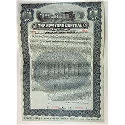 New York Central Railroad Co., 1913 Specimen Bond