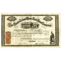 Staten Island Horse Railroad Co., 1868 Issued Stock Certificate.
