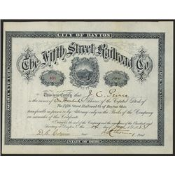 Fifth Street Railroad Co. Issued Shares.