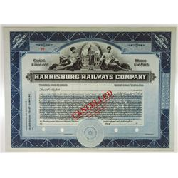 Harrisburg Railways Co., ca.1950s-1960s Specimen Stock Certificate