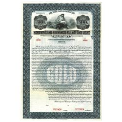 Mahoning and Shenango Railway and Light Co., 1915 Specimen Bond